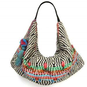 NWT Ethnic boho bag, boho woven X-L handbag